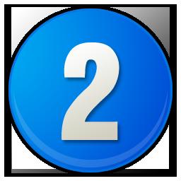 number-2-blue