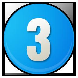 number-3-blue