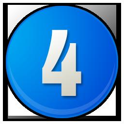 number-4-blue