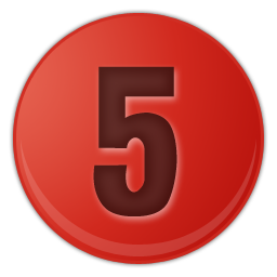 number-5-red